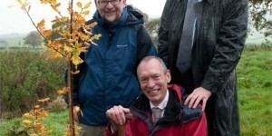 Minister Visits first Woodland in Wales to Crack the Carbon Code