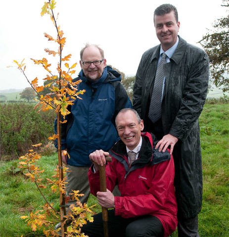 Minister Visits first Woodland in Wales to Crack the Carbon Code gallery image